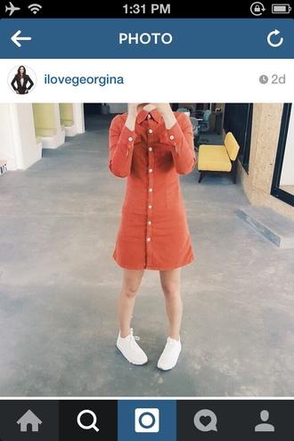 dress orange classy