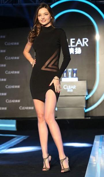 Dress Black Dress One Shoulder Sandals Miranda Kerr Sheer All