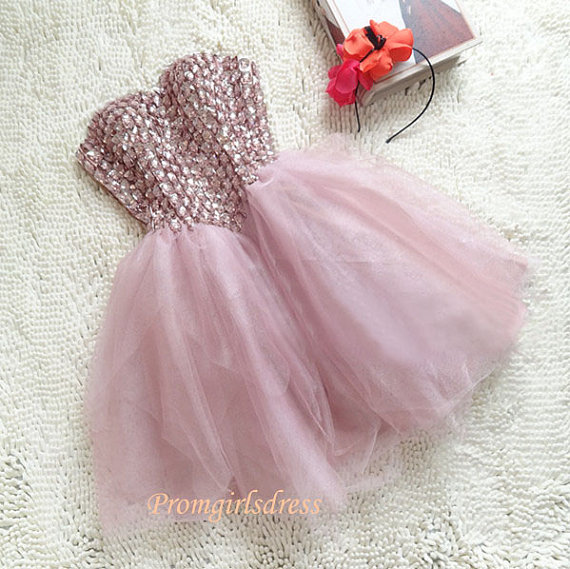 Homecoming Dress Pink Homecoming Dresses by Promgirlsdress on Etsy