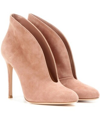 boots ankle boots suede shoes