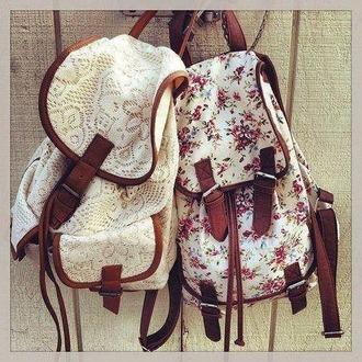 bag backpack floral