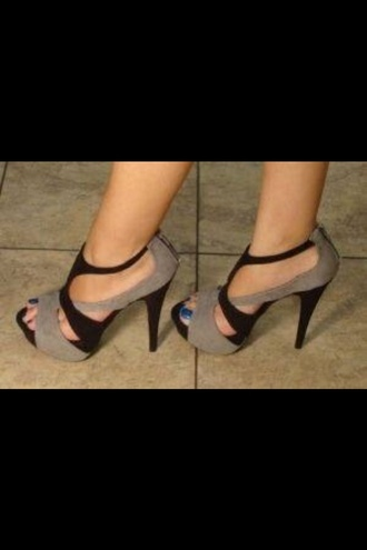 shoes beige black high heels heels stilettos