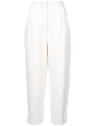cropped high women white pants