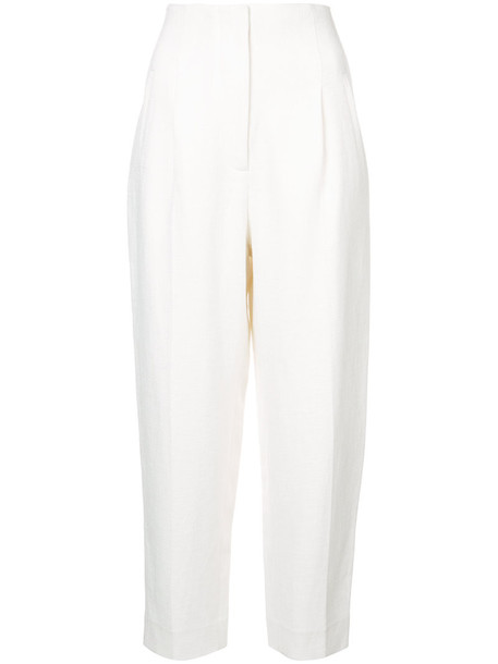 Rosetta Getty cropped high women white pants