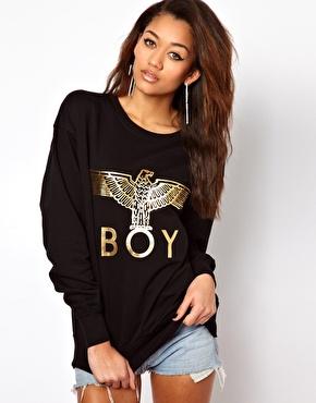 BOY London | BOY London - Sweat à logo aigle doré chez ASOS