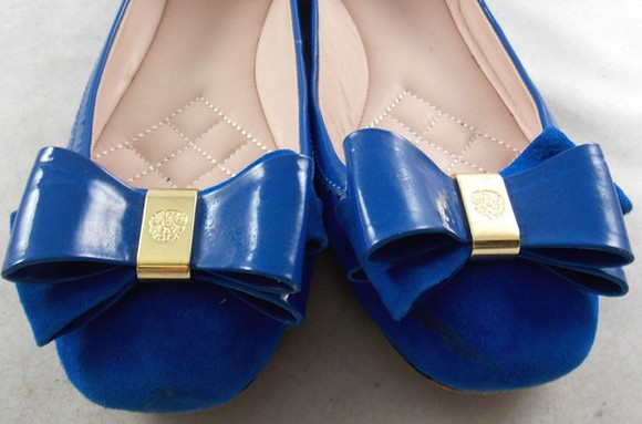 shoes blue shoes shoes vince camuto blue flats shoes with bow flats