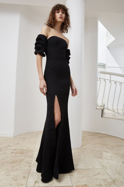 C/MEO COLLECTIVE gown black dress