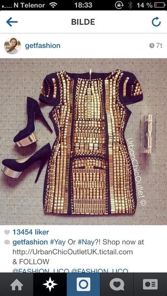 dress rivets studded short