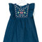 Knot - embroidered denim dress - kids - cotton - 3 yrs, blue