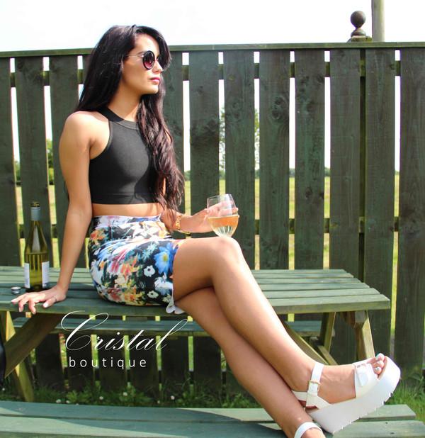 bandage dress celebrity style floral dress wedge sandals
