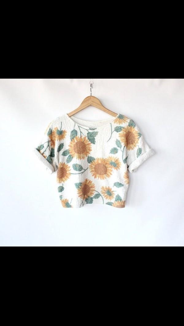 t-shirt t-shirt sunflower