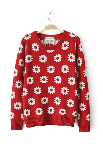 Europe Fashion Sunflower Sweater [FKBJ10306]- US$23.99 - PersunMall.com