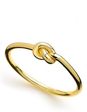 18K Gold Over Sterling Silver Knot Ring | Lord and Taylor