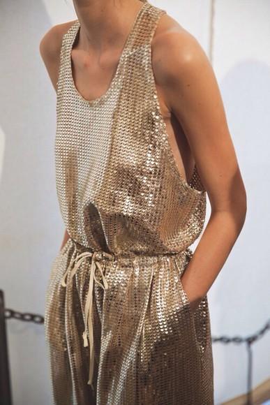 golden jumpsuit