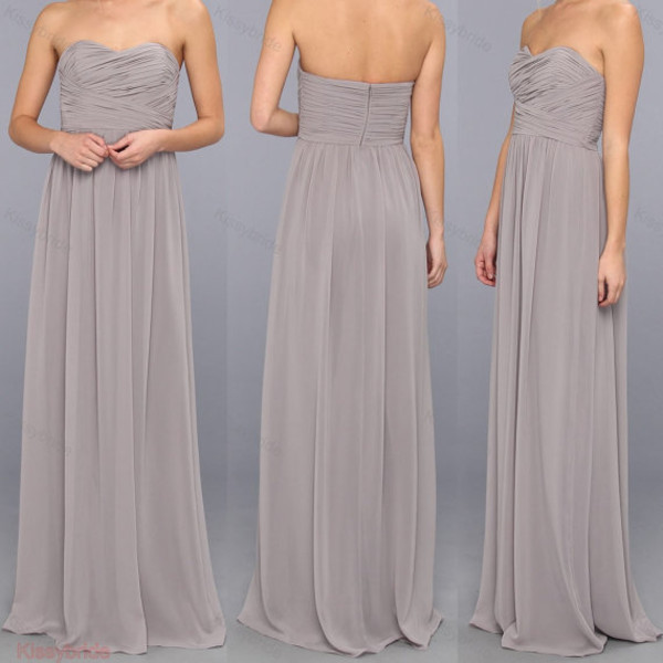 dress long bridesmaid dress bridesmaid grey bridesmaid dress prom dress