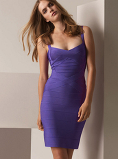 dress,bqueen,bandage,bandage dress,purple,sexy,chic,party,evening dress,halter neck,straps