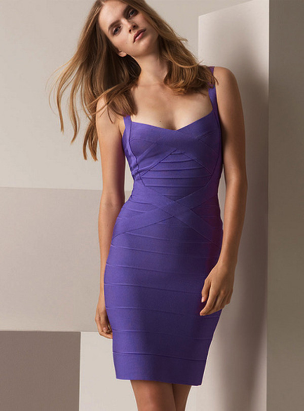 dress dress bqueen bandage bandage dress purple sexy chic party evening dress halter neck straps