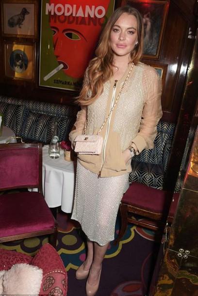 top skirt embellished lindsay lohan jacket bag