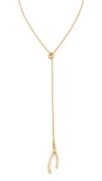 vintage wishbone necklace gold jewels