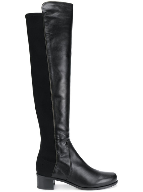 STUART WEITZMAN women leather black shoes