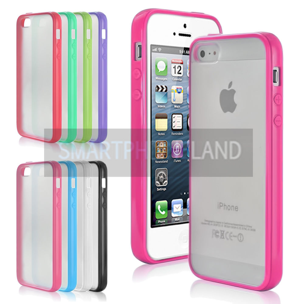 coque etui housse bumper silicone gel apple iphone 5 5s 5c de protection