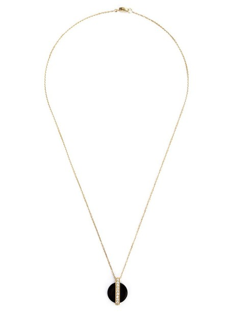 Kristin Hanson women necklace pendant gold black jewels