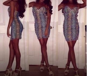 dress fitted dress embellished rhinestones