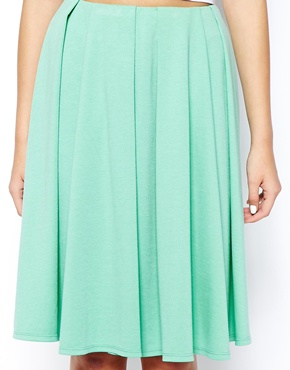 ASOS | ASOS Midi Skirt in Ponte with Bold Pleats at ASOS