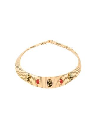 stone necklaces metallic jewels