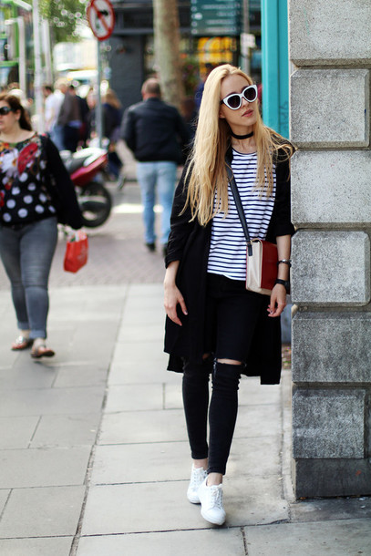 anna pogribnyak city fashion: my vision blogger t-shirt jeans bag jewels shoes