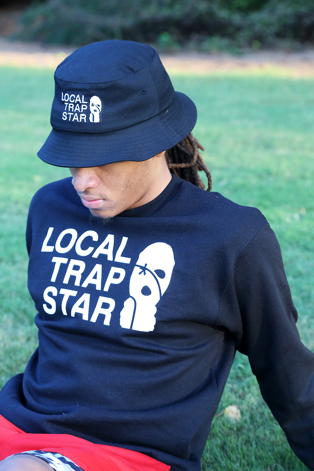 Lts champion black crewneck local trap star - Trap spar ...