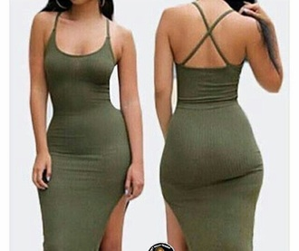 dress green body cute fashion summer green dress slit slit dress bodycon bodycon dress sexy party dresses sexy sexy dress party outfits summer outfits summer dress cute dress girly girly dress date outfit clubwear club dress pool party