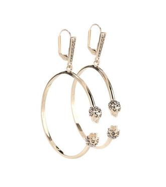 skull earrings gold jewels
