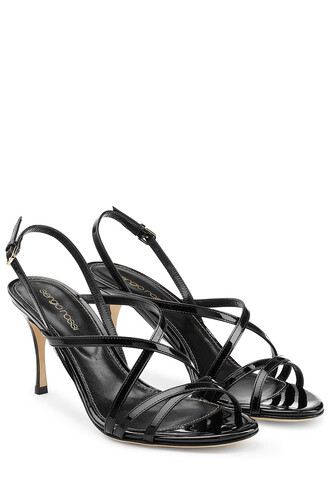 heel mid heel sandals sandals leather black shoes