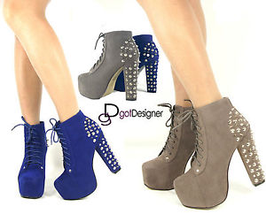 New Womens Fashion Shoes Sexy Ankle Boots Platforms High Heels Pumps Spiked | eBay