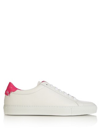 top street urban leather white pink