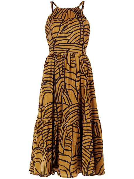 Andrea Marques dress midi dress women midi cotton