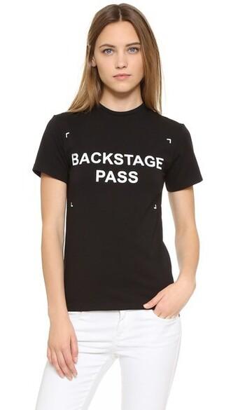 t-shirt shirt backstage black top