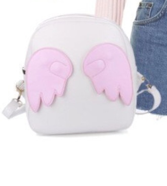 bag backpack please let me knw pink purple gold silver kawaii grunge white beautiful asthetic love