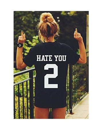 shirt hate you 2 jersey black jerset hate you 2 jersey hate you 2 shirt black t-shirt