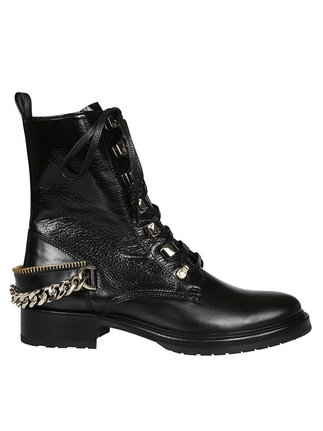 lanvin embellished combat boots black shoes