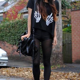 middle finger shirt shoes black goth grunge skeleton the middle