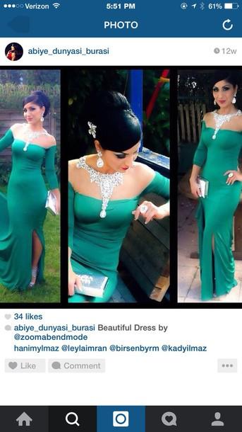 dress green dress prom dress long prom dress formal dress