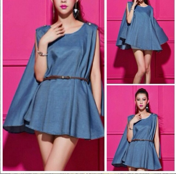 denim shorts cape dress sun dress