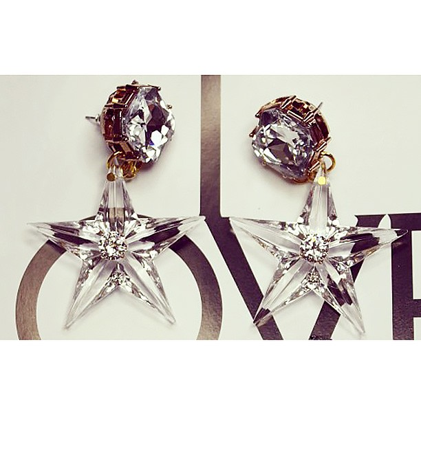 Embellished Star Earrings