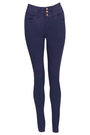 Helen Candy Skinny Jeans In Navy - Pop Couture