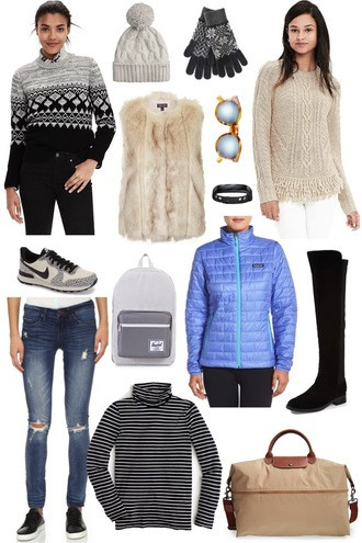 sequins and stripes blogger jacket coat sweater hat gloves sunglasses jewels shoes bag