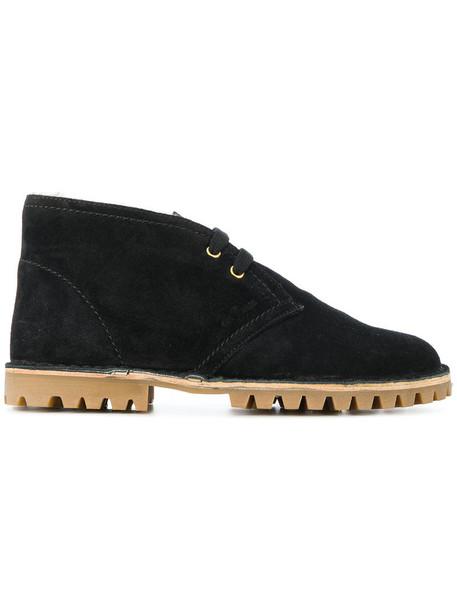Car Shoe women suede black shoes