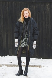 kristina magdalina,blogger,coat,skirt,jacket