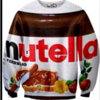 sweater ariana grande nutella chocolate lovely hoodie shirt sweat shirt letters printed jacket
